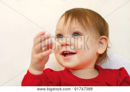 Beautiful smiling cute babygirl