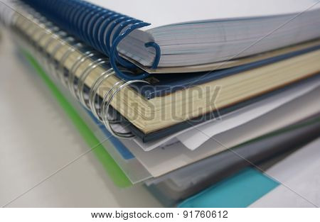 Office Document And Binder Ring Book