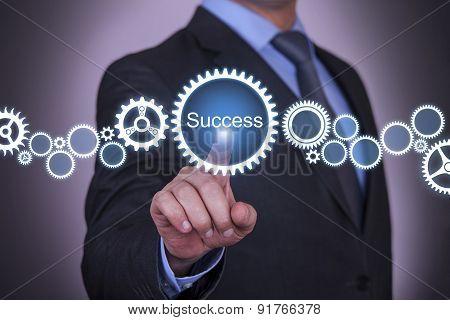 Businessman Gear Success
