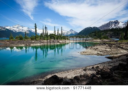 Glacier fed lake
