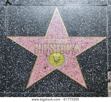 Freddy Bartholomew's Star On Hollywood Walk Of Fame
