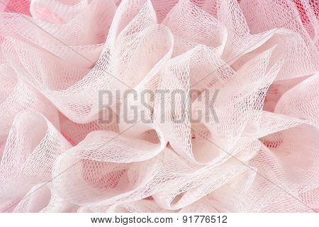 Crumpled tulle as background texture close up poster