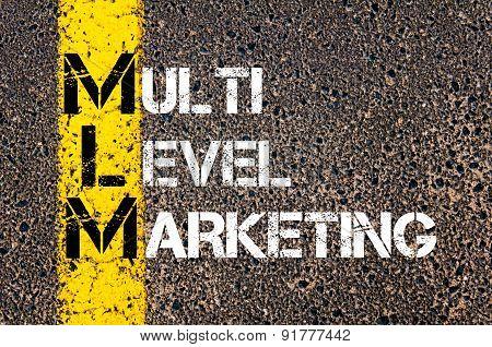 Business Acronym Mlm As Multi Level Marketing