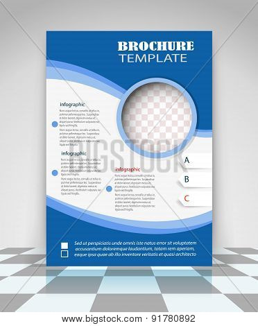 Blue And White Business Flyer Design