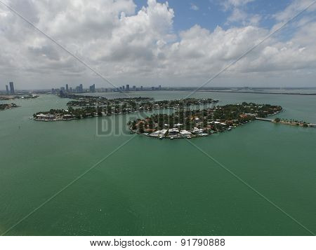 Aerial image of the Venetian Islands Miami Beach