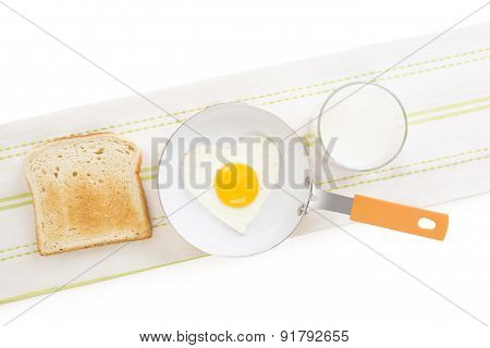 Fried Egg In Heart Shape