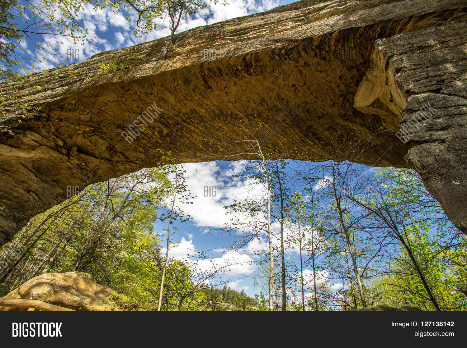 Natural Bridge In Kentucky. Visitors To Natural Bridge State Park Can Ride  A Skylift To
