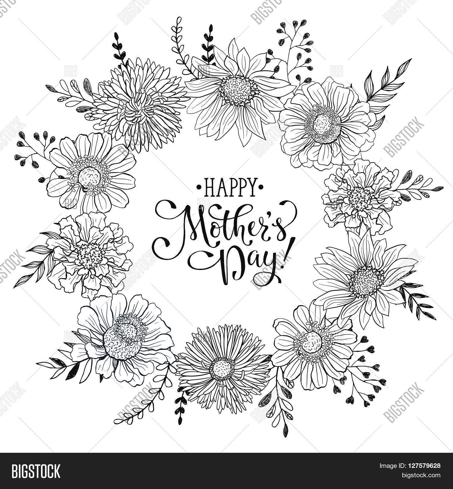 Mother\'s Day Greeting Card Vector & Photo   Bigstock