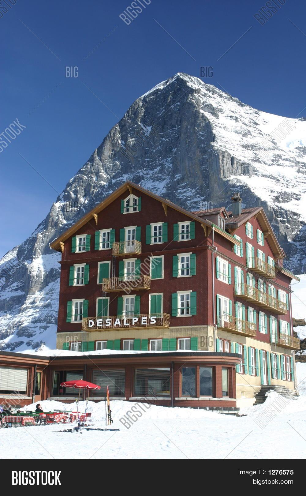 hotel bellevue des alpes eiger image photo bigstock. Black Bedroom Furniture Sets. Home Design Ideas