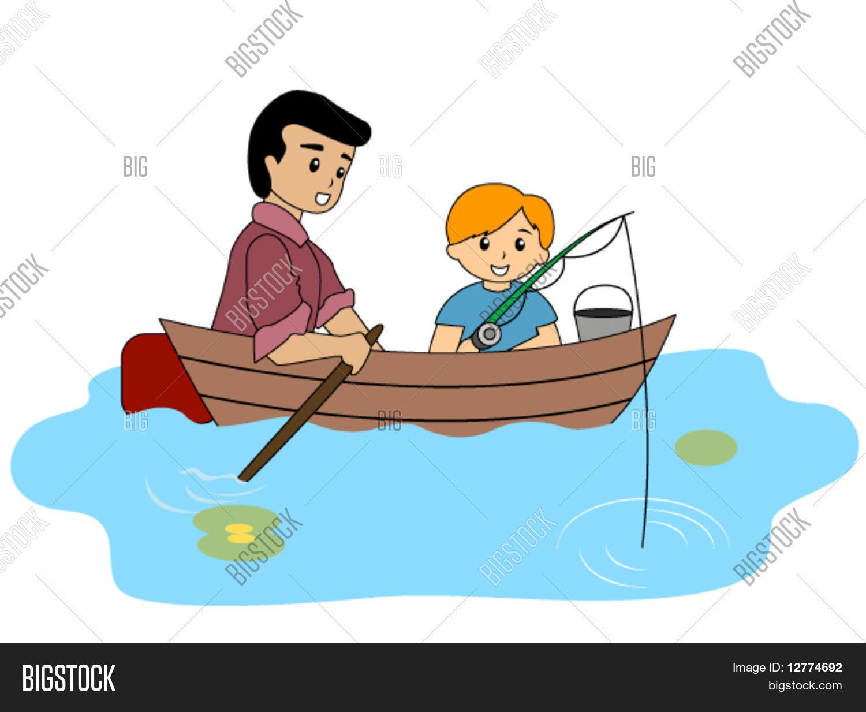 Cute Cartoon Boy Fishing Royalty Free Cliparts, Vectors, And Stock  Illustration. Image 75877748.