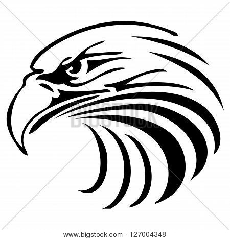 an abstract silhouette of an eagle head