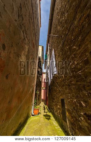 Traditional architecture in rural Italian village, on the Mediteranean Coast
