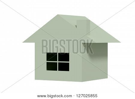 Isolated Three-dimensional House