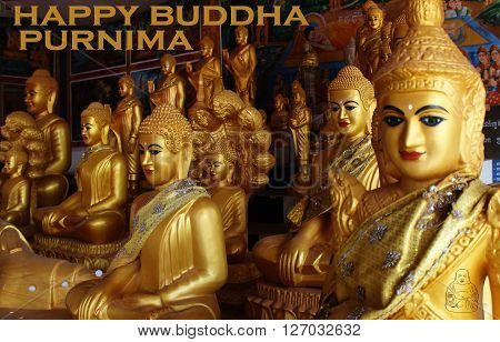 happy buddha purnima day with an icon