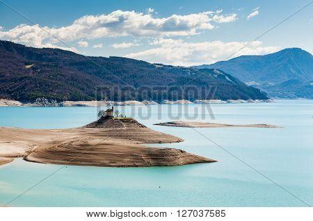 Lake Serre-poncon, Hautes-alpes, France