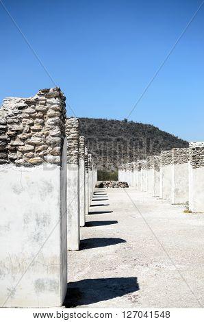 Ancient pillars of Toltec civilization in Tula