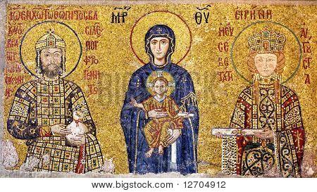 Byzantium mosaic art