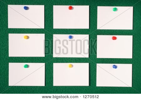 White Blank Business/Advertisement Cards.