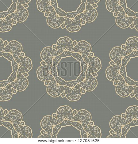 Stylized Doodle Seamless Tile for  Wallaper Backdrop