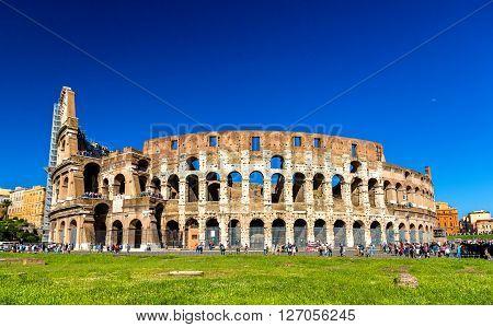 Colosseum or Flavian Amphitheatre in Rome, Italy