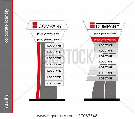 The stella on the white background. Template for corporate identity. Brandbook. Blank mockup for design. Vector white object.