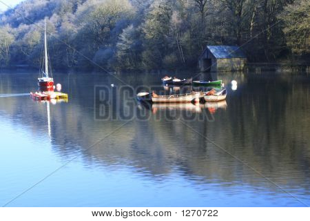 Boats And Boathouse