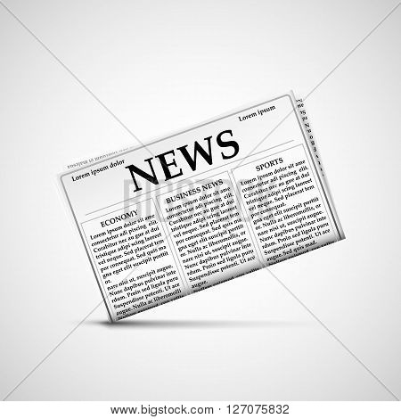 Icon newspaper and Latest news. Stock vector illustration.