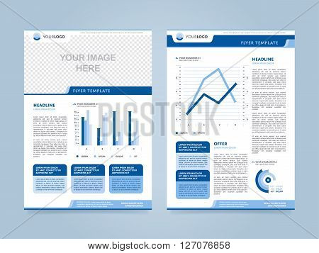 Superb Brochure Design Template. Leaflet Layout. Cover Design Concept. Annual  Report And Annual Report Template Design