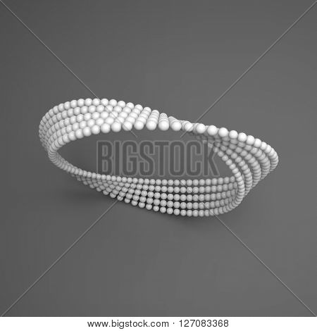 Mobius strip variation. Infinity Sign. Classic Optical Illusion. Moebius loop. Connection Structure.