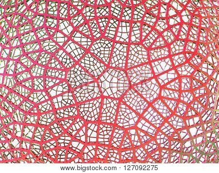3D illustration of network grid bue sphere