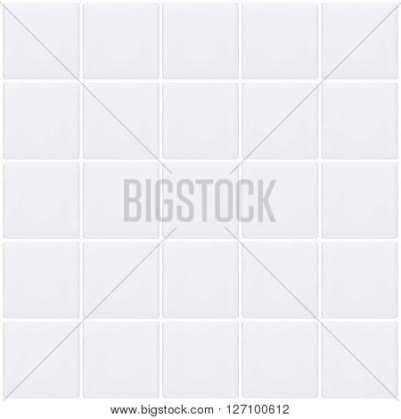 White mosaic tiles background seamless wall tile