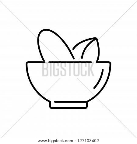 Line Icon Style, Mortar And Pestle Pharmacy Icon