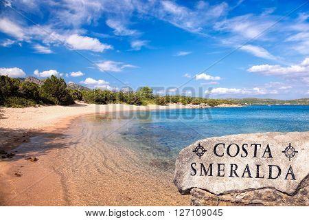 Amazing Wild Capriccioli Beach On Sardinia Island, Costa Smeralda, Italy