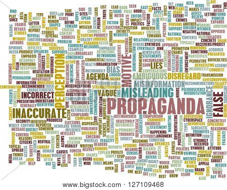 Propaganda as a Message Concept Abstract Art