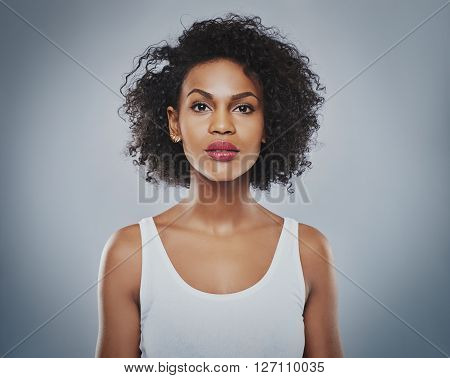 Young Beautiful Woman Staring