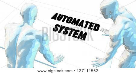 Automated System Discussion and Business Meeting Concept Art 3D Illustration Render