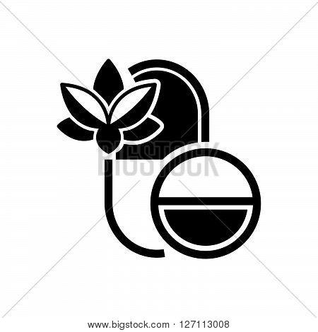Bold Icon Pills Alternative medicine icon support vector design  eps 10.