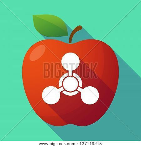 Long Shadow Red Apple With A Chemical Weapon Sign