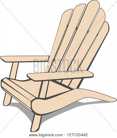 Adirondack Beach chair. Vector illustration.