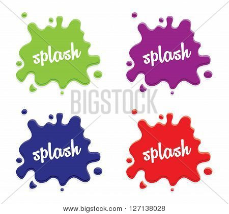 a white milk splash set on colourful backgrounds