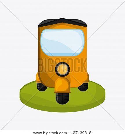 rickshaw concept with icon design, vector illustration 10 eps graphic.