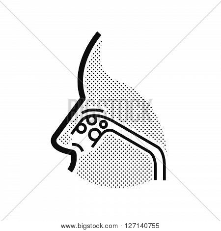 Nose cancer icon support vector design EPS10.