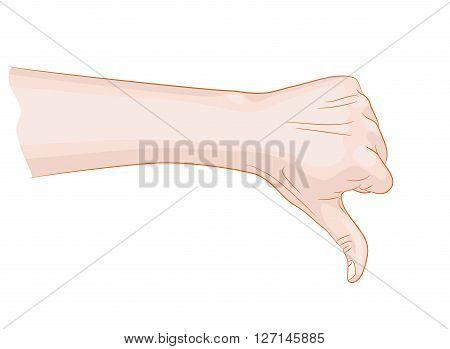thumb down symbol vector illustration bad things