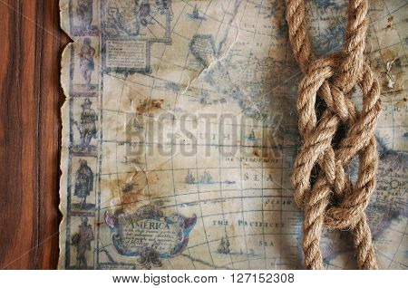 Ssailor Knot And Old Map