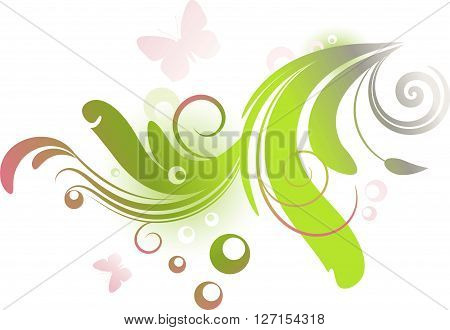 Spring floral design element on a white background. eps 10