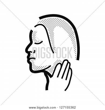 Otolaryngology Sore throat icon, vector design eps10.
