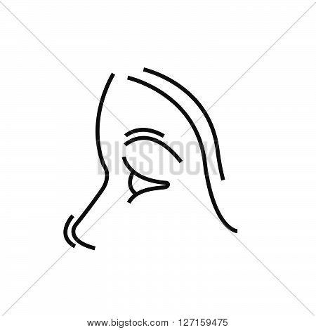 Nose, Medical Doctors Otolaryngology Icon, Line Icon Style