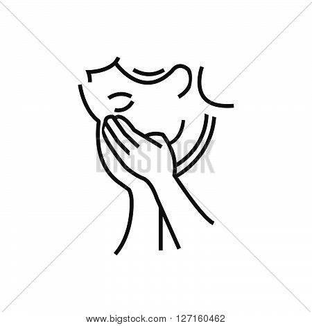Otolaryngology Coughing icon line icon Style vector design EPS10.