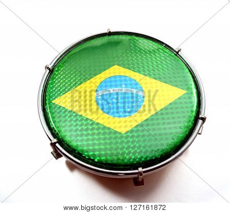 Green Brazilian drum called