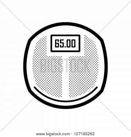 Medical Device Icon Bathroom scales DIGITAL vector design EPS10.